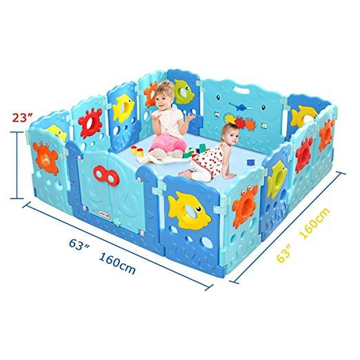 aa050caeb Baby Playpen - Kids 14 Panel Activity Centre Safety Play Yard