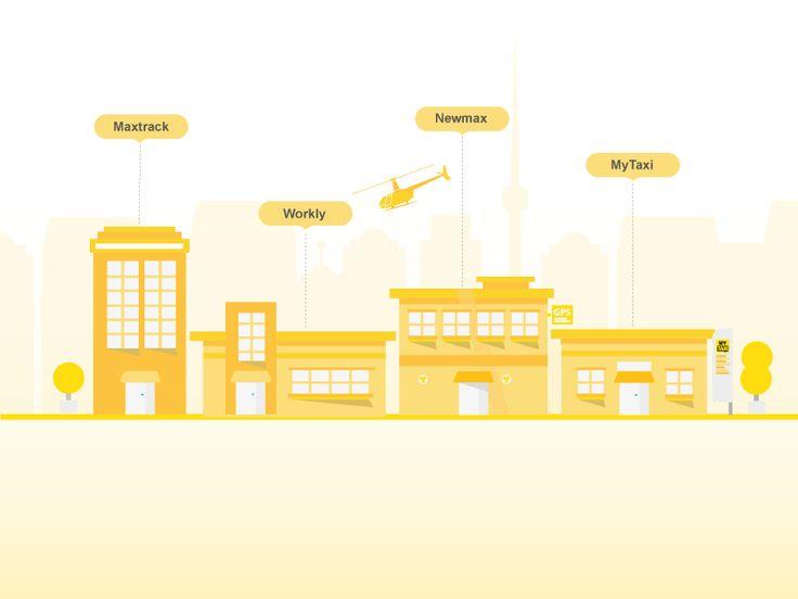 Newmax Technologies  Мы уже запустили:  - Maxtrack - первая и лучшая в стране технология мониторинга  - Workly - система умного повышения эффективности кадров (бывш. Biotrack)  - MyTaxi - самая крутая система вызова такси.