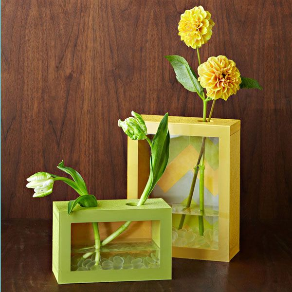 DIY vases from Lowes
