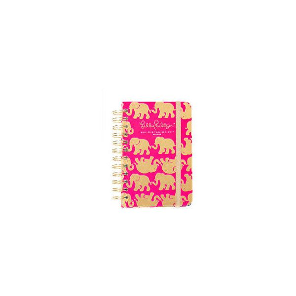 Lilly Pulitzer Lilly Pulitzer 2016-2017 Small Agenda - Tusk In Sun ($18) ❤ liked on Polyvore featuring home, home decor and stationery