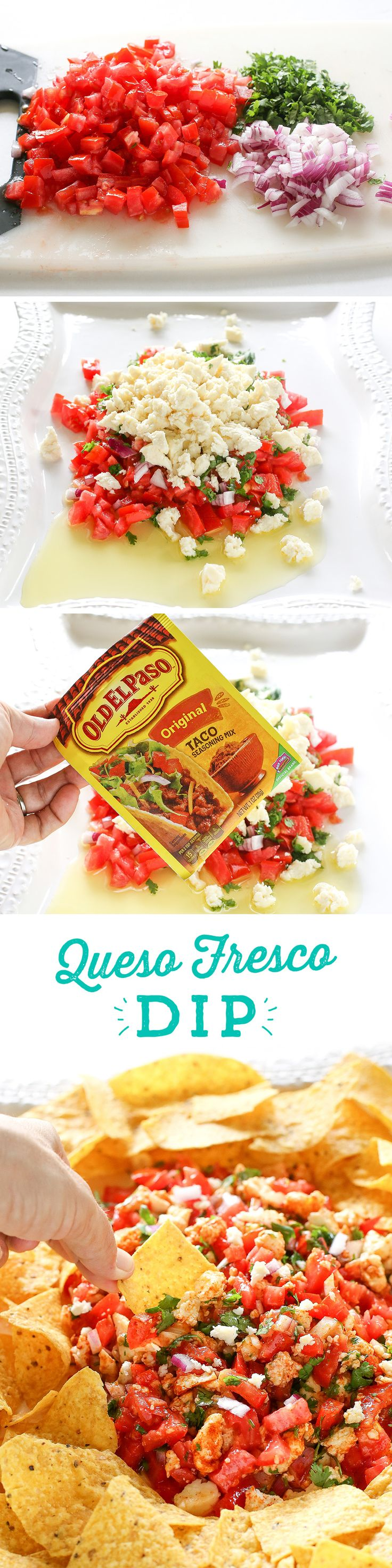 Looking for an easy snack idea? This Queso Fresco Dip from @girlwhoate is perfect! It has just a few ingredients, packs bright, fresh flavors, and comes together in just minutes!