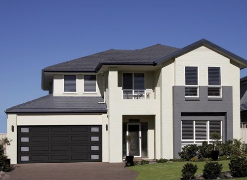 Garage Door Model : Standard+ garage door, model MIX, black, outer harmony window layout Get a FREE QUOTE : http://www.automateddoorsystems.com/ca/get-a-quotation/