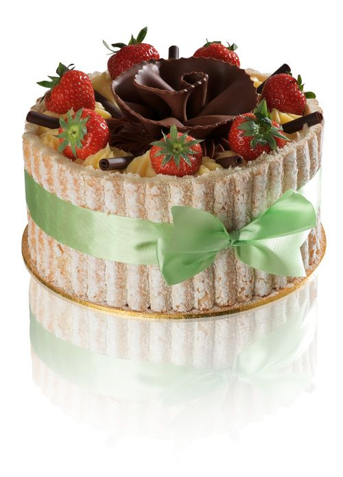 Charlotte Gateau - Vanilla and charlotte sponges filled with strawberries, fresh cream and St. Honoré cream