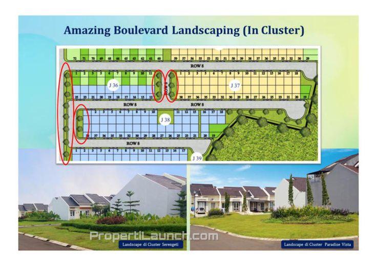 Siteplan Cluster Carara Paradise Serpong City.