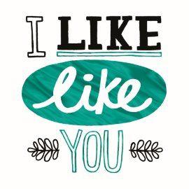 I like like you! #Hallmark #HallmarkNL #vriendschap #like #leuk