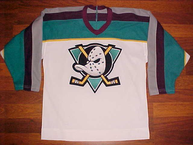 CCM NHL Western Pacific 1993/94 Anaheim Mighty Ducks Boys Hockey Jersey L/XL #CCM #AnaheimMightyDucks