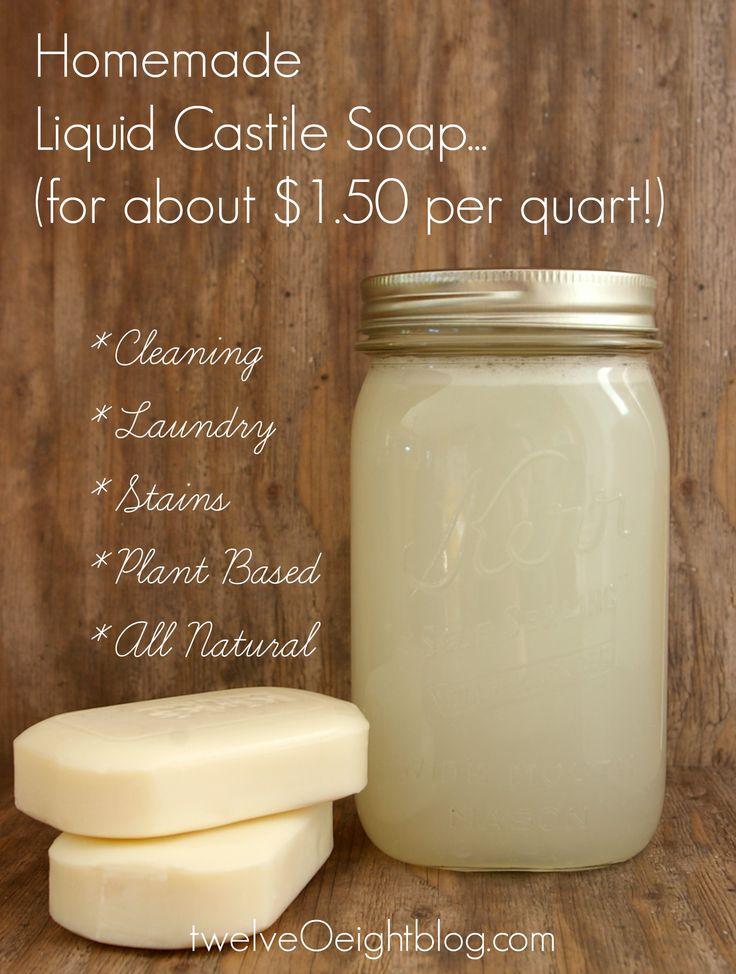 Liquid Castile Soap Recipe twelveOeightblog.com