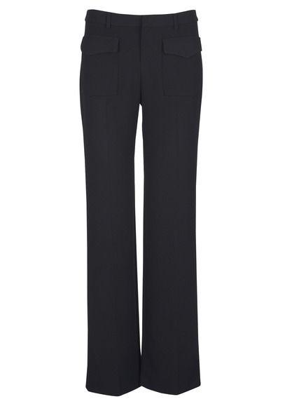 Pantalon large à poches Delal Noir by BA & SH