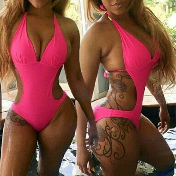 SALE !!!  HOTT pink monokini One piece monokini, sexxxxy and flattering. Swim One Pieces