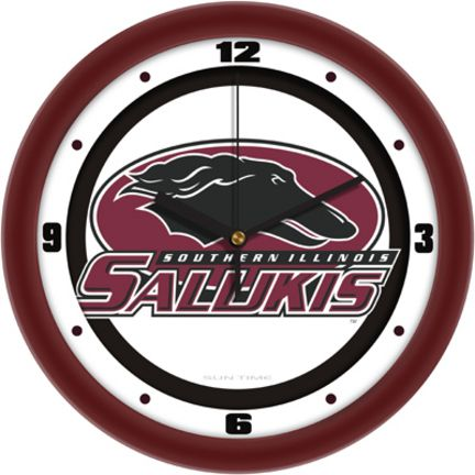 """Southern Illinois Salukis Traditional 12"""" Wall Clock"": Demonstrate your Southern Illinois Salukis… #Sport #Football #Rugby #IceHockey"