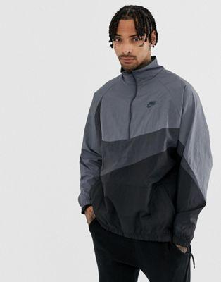 official photos 2775d 7c6fd Image 1 of Nike Vaporwave Swoosh Half Zip Jacket In Grey