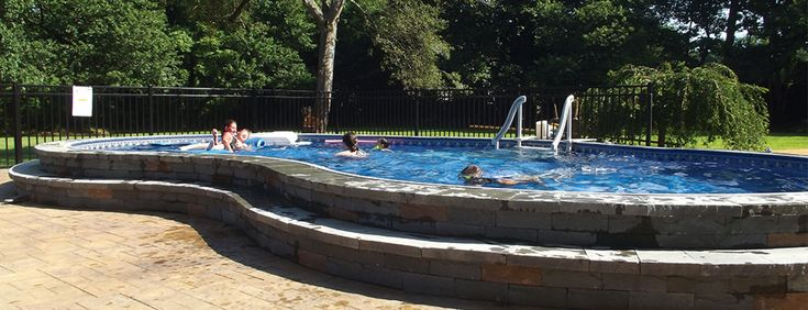 Radiant pools beautiful pools pinterest semi - Above ground swimming pools reviews ...
