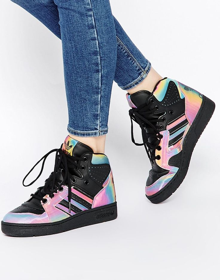 adidas Originals Rita Ora Instinct Multi Coloured High Top Trainers  ($215.25 CAD) | ASOS