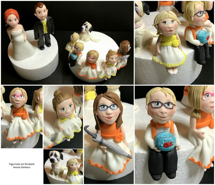weeding cake topper familly figurines de mariage famille parents enfants pregnant mom https://www.facebook.com/figurinesanniedemers