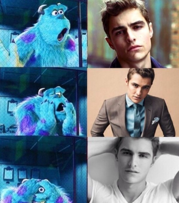 Dave Franco. ♡ Lol Monsters Inc. is like my favorite movie EVER!! So it just makes the picture even better <3