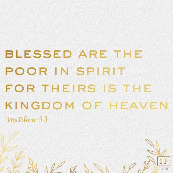 Matthew 5:3 | IF:Equip