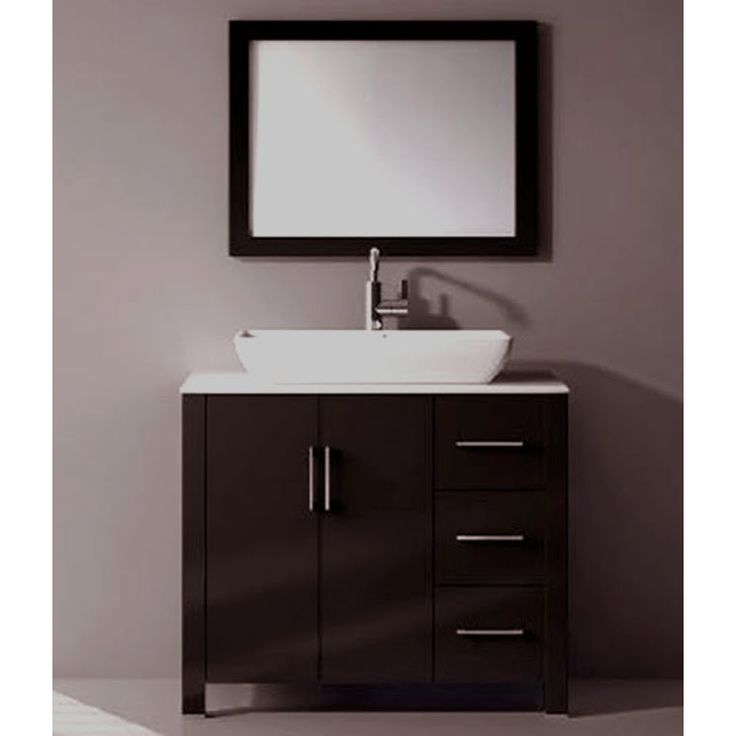 Kokols 36 Single Free Standing Bathroom Vanity Set With Mirror