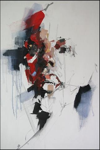 mixed medium on canvas....150x100cm BY RYAN HEWETT