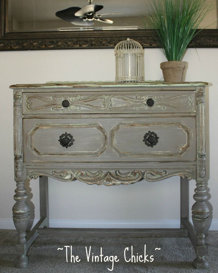 Gray Antique Furniture Ornate French Gray Grey Antique