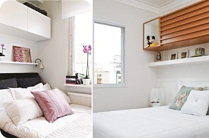 Ideias para usar armários suspensos no quarto