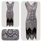 30's 1920s Vintage Flapper Dress Gatsby Charleston Sequin Fringed Beaded Costume