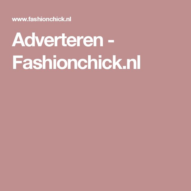 Adverteren - Fashionchick.nl