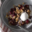 Baked NYC Cherry Crisp Recipe from williams-sonoma.com.  Will be trying minus the almonds.