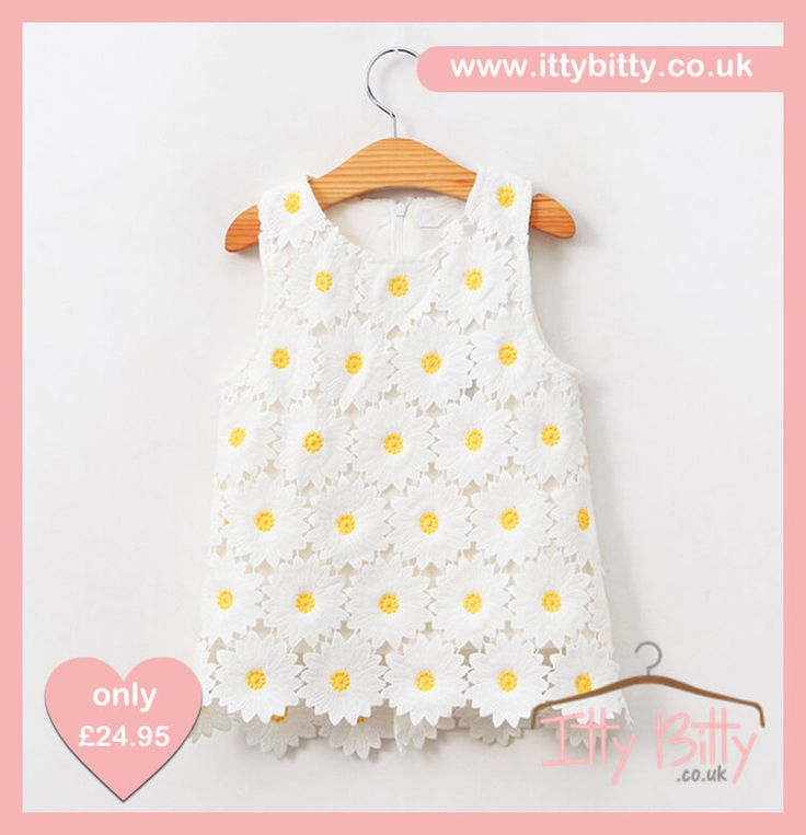 Our Itty Bitty Younger Girls Daisy Dress  Shop here 👉🏻https://www.ittybitty.co.uk/product/itty-bitty-younger-girls-daisy-dress/?utm_content=buffere5c85&utm_medium=social&utm_source=pinterest.com&utm_campaign=buffer  🅿️ PayPal or 💳 Credit/Debit card 🔐Secure #daisy #dress
