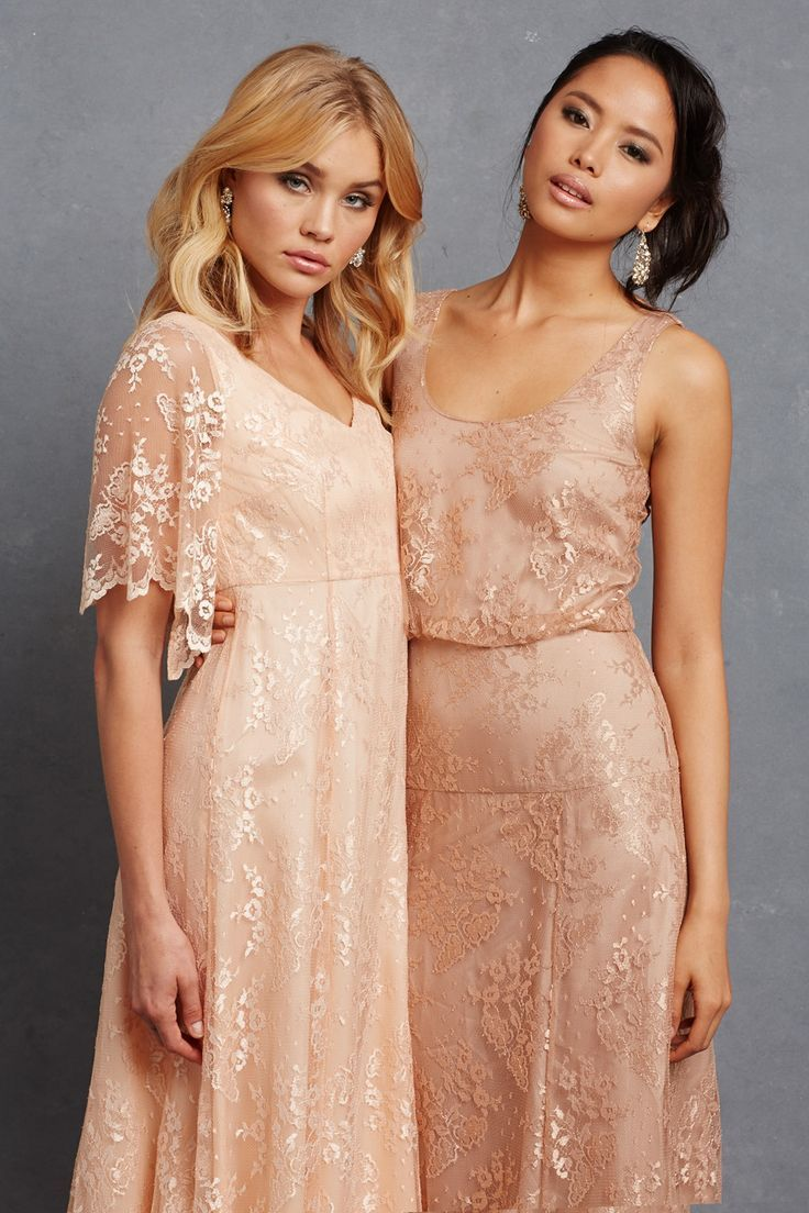 Chic Romantic Bridesmaid Dresses: This collection of chic, romantic bridesmaid dresses from Donna Morgan's new Serenity collection is right on trend.  http://www.confettidaydreams.com/chic-romantic-bridesmaid-dresses/