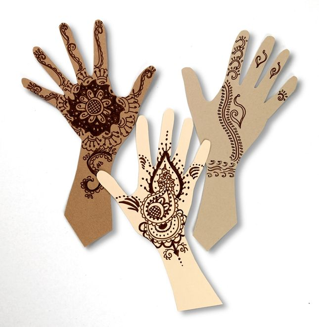 Mehndi has traditionally been used to adorn wearers for wedding ceremonies and other cultural celebrations. Designs can be intricate and include elements like flowers, swirls, dots and teardrops.