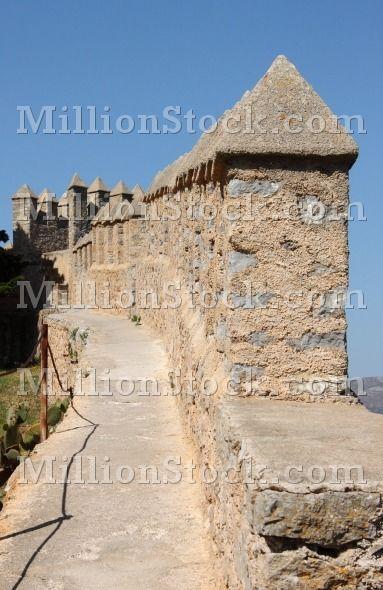 Battlements of Arta Fortress. Mallorca, Spain