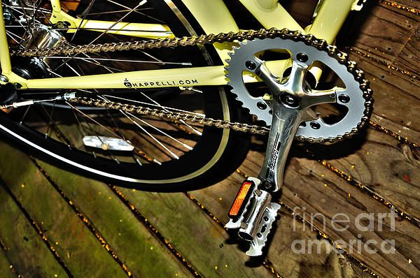 #SPROCKET AND #CHAIN - #Chappelli #Bicycle #Photography - Quality Prints & Cards at: http://kaye-menner.artistwebsites.com/featured/sprocket-and-chain-kaye-menner.html  -