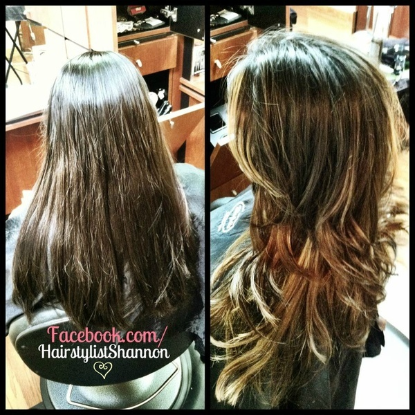 Ombre, cut  style 5/3/2012   Facebook.com/HairstylistShannon hair-do-s-that-bang