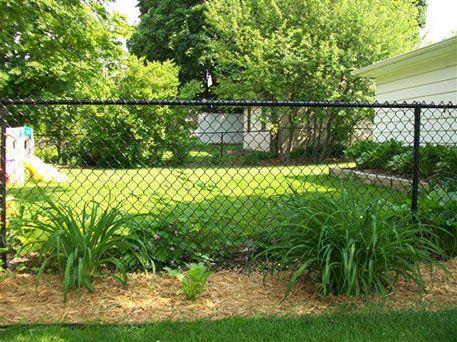 black chain link fence installation Milwaukee