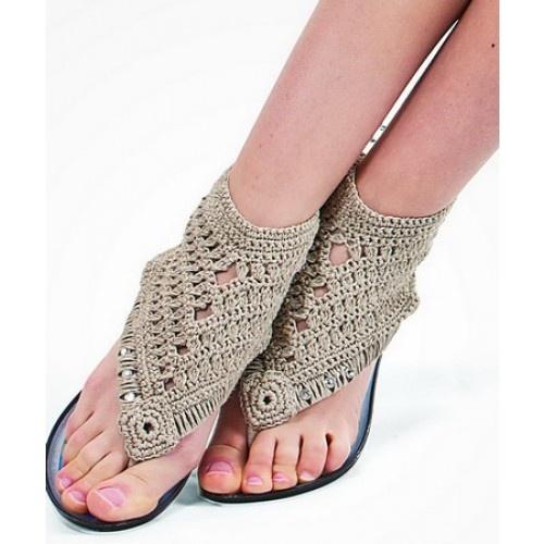 crochet over thongs