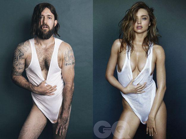 a dupla de comediantes australianos Bondi Hipsters quis demonstrar estas disparidades imitando uma sessão fotográfica de Miranda Kerr para a Revista GQ… E aqui está o resultado: