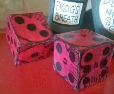 Nightmare Before Christmas—Oogie Boogies dice printable - DIY Nightmare Before Christmas Halloween Props