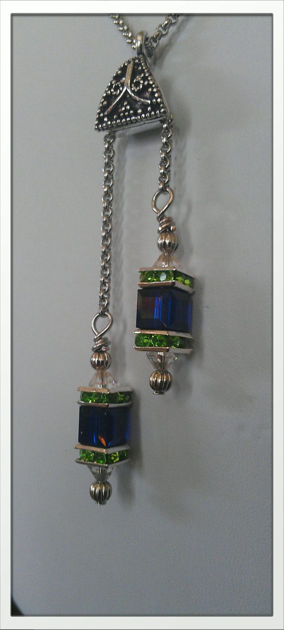 Inspired By The Seattle Seahawks Lantern Necklace