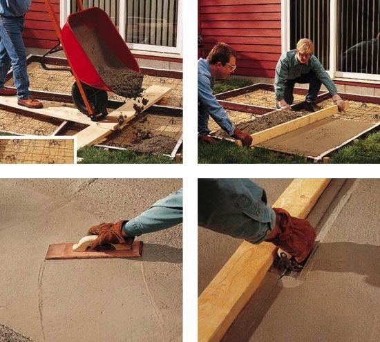 DIY Concrete Patio   How To Pour A Slab