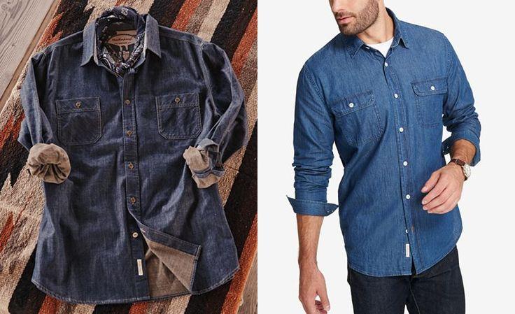 Weatherproof Vintage Men's Indigo Denim Shirt - Mens Denim Shirts - SLP - Macy's