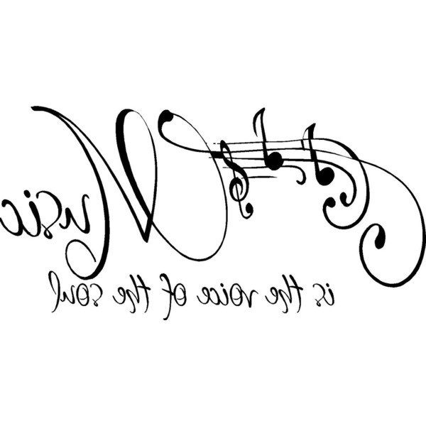 pentagrama y palabra MUSICA para transferir