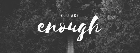 you are enough facebook cover make a statement with this black and white impactful quote