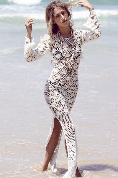 auguste the label www.whitebohemian.com.au crochet maxi dress