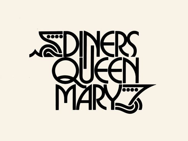 Diners Queen Mary Logo Designer: Herb Lubalin