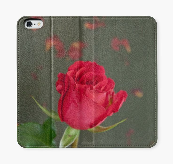 iPhone Wallet. #rose #redrose  https://www.redbubble.com/people/sandrafoster/works/8008083-reddish-rose-on-petal-background?p=iphone-wallet