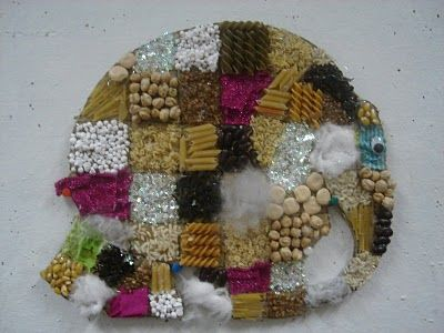 Textured collage of Elmer the Patchwork Elephant #MyElmer