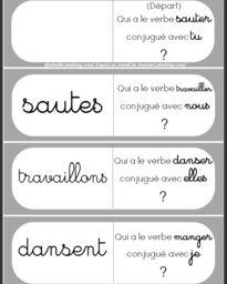 Jeux en conjugaison (dominos, loto), passé, présent et futur - Aliaslili