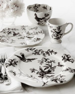 Brown Bird Toile Dinnerware J  sc 1 st  Pinterest & 95 best dishes vintage pottery mccoy pyrex and table settings ...