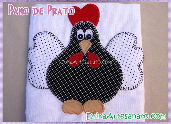Moldes para patchwork: Galinha de Angola | Drika Artesanato - Dicas e sugestões sobre artesanato.