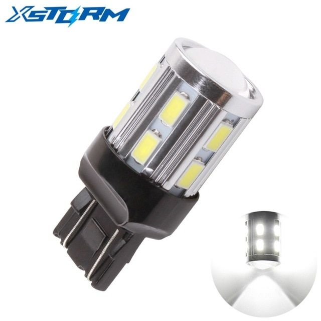 1pc T20 7443 7440 Led 12 Smd 5730 W21 5w W21w Led 5w Car Bulb Reverse Light Brake Turn Signal Lights Parking Auto Lamp White 12v Rev Cree Led Car Led Lamp Bulb